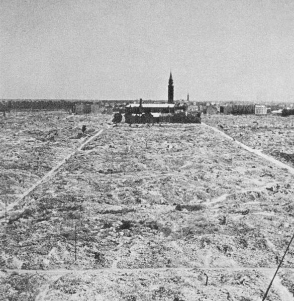 Warsaw Ghetto destroyed by German forces 1945